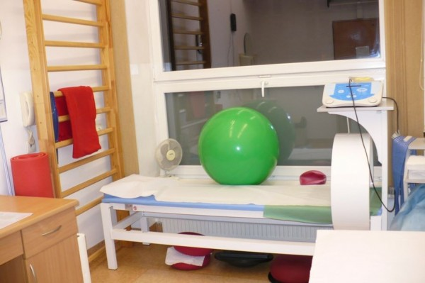 wnętrze gabinetu fizjoterapii